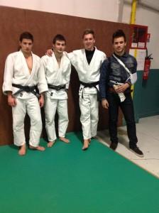 Nos 3 juniors et Antoine qui a validé son arbitrage.