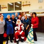 L'équipe du bureau avec le Père-Noel